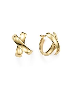 14K Yellow Gold X Hoop Earrings - 100% Exclusive