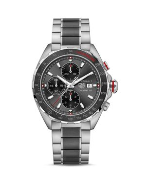 TAG HEUER Formula 1 Calibre 16 Chronograph Steel And Brushed Ceramic Watch, 44Mm in Grey