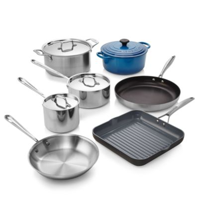 All Clad Stainless Steel 7-Piece Cookware Set - 100% Exclusive
