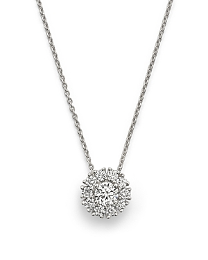 Roberto Coin 18K White Gold Cluster Pendant Necklace with Diamonds, 16