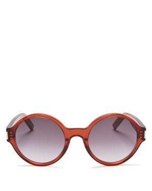 Saint Laurent Oversized Round Sunglasses, 52mm
