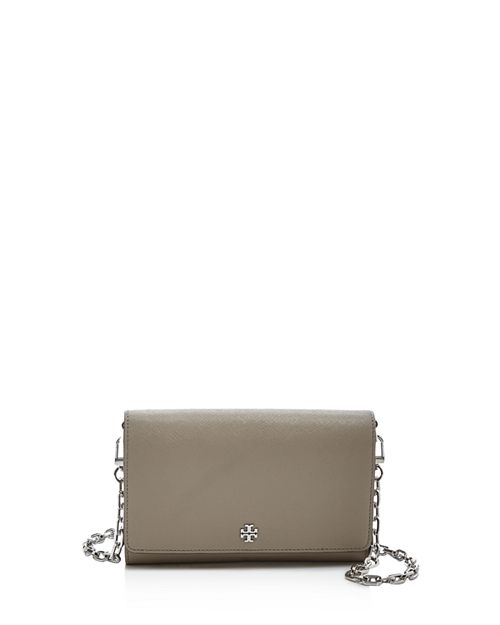 Tory Burch Robinson Chain Leather Wallet Bloomingdales