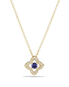 David Yurman - Venetian Quatrefoil Necklace with Tanzanite and Diamonds in 18K Gold