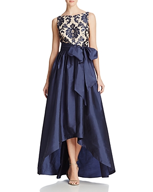 Adrianna Papell High/Low Taffeta Gown