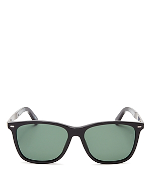 Ermenegildo Zegna Wayfarer Leather Temple Sunglasses, 56mm