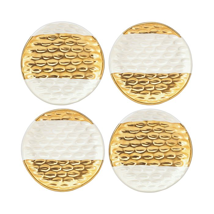 Michael Wainwright - Truro Gold Canapé Plates, Set of 4