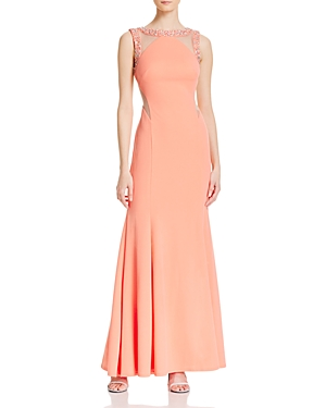 Decode 1.8 Embellished Illusion Cutout Gown