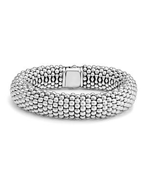 Lagos Sterling Silver Caviar Oval Link Bracelet