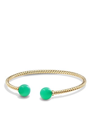 David Yurman Solari Bead Bracelet with Chrysoprase in 18K Gold