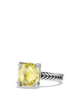 David Yurman - Châtelaine Ring with Lemon Citrine and Diamonds