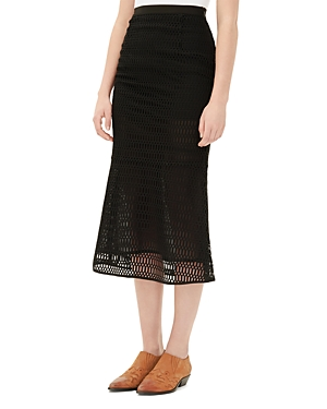 Sandro Jet Lace Skirt
