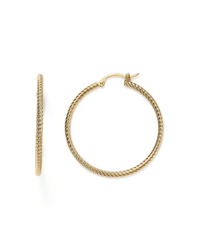 Bloomingdale's - 14K Yellow Gold Twisted Hoop Earrings - 100% Exclusive
