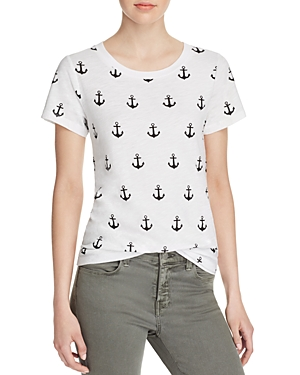 French Connection Sonny Slub Anchor Tee