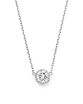Bloomingdale's - Diamond Bezel Set Pendant Necklace in 14K White Gold, .25-.50 ct. t.w. - 100% Exclusive