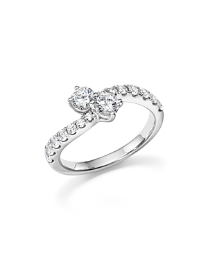 Diamond Two Stone Ring in 14K White Gold, 1.0 ct. t.w. - 100% Exclusive