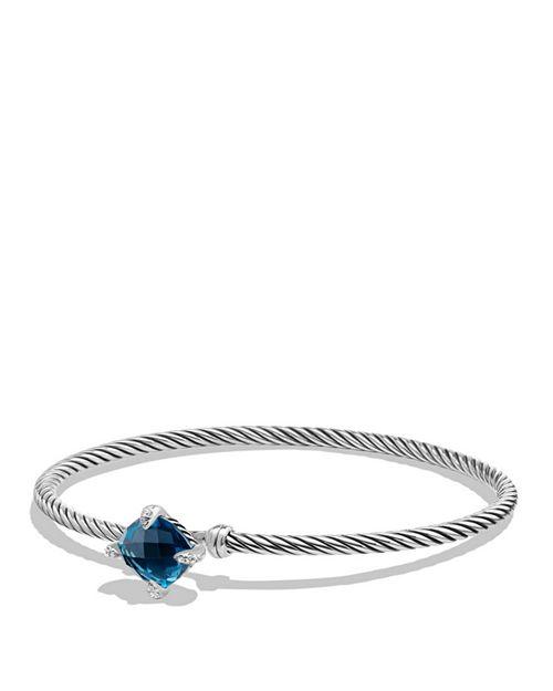 David Yurman - Châtelaine Bracelet with Hampton Blue Topaz and Diamonds