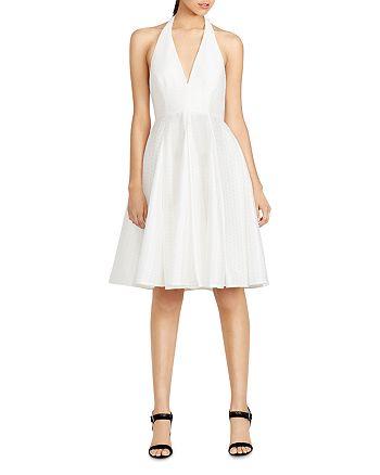 d0d6998bada HALSTON HERITAGE - Textured Jacquard Halter Dress