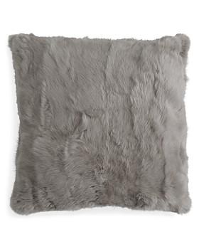 "Adrienne Landau - Rabbit Fur Decorative Pillow, 20"" x 20"""