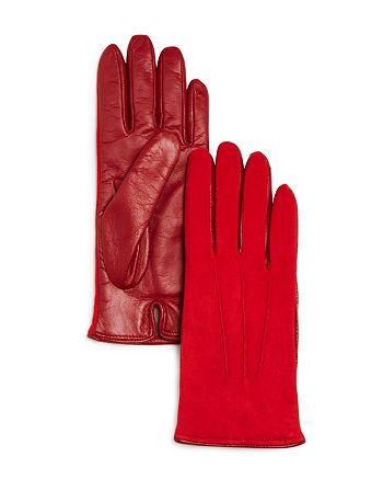 Bloomingdale's - Cashmere-Lined Suede Tech Gloves - 100% Exclusive