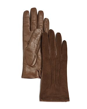 Bloomingdale's Cashmere-Lined Suede Tech Gloves - 100% Exclusive
