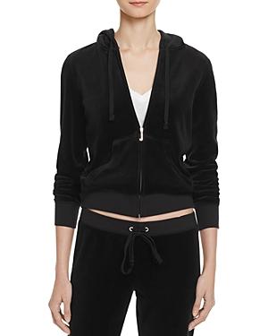 Juicy Couture Black Label Robertson Velour Zip Hoodie