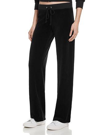 Juicy Couture Black Label - Original Flare Velour Pants - 100% Exclusive