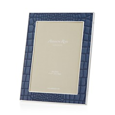 Addison Ross Faux Croc Blue 5x7 Frame - Bloomingdale's_0