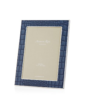 Addison Ross - Faux Croc Blue 5x7 Frame