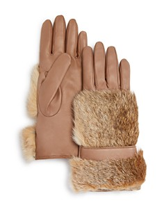 Bloomingdale's Cashmere Lined Rabbit Fur Gloves - 100% Exclusive_0