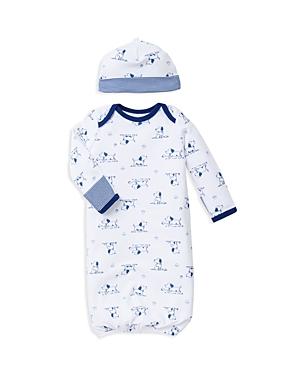 Little Me Boys' Puppy Print Gown & Hat Set - Baby