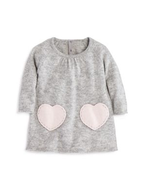 Bloomie's Girls' Cashmere Heart Pockets Dress, Baby - 100% Exclusive