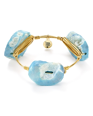 Bourbon & Boweties Blue Agate Bangle