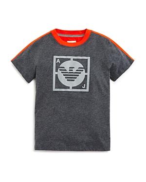 Armani Boys' Contrast Back Logo Tee - Sizes 4-16