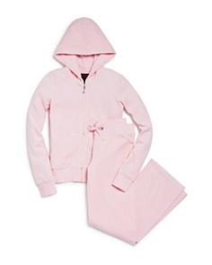 Juicy Couture Black Label Girls' Velour Hoodie & Mar Vista Pants, Big Kid - 100% Exclusive - Bloomingdale's_0