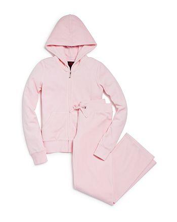 Juicy Couture Black Label - Girls' Velour Hoodie & Mar Vista Pants, Big Kid - 100% Exclusive