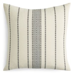 Coyuchi Organic Cotton Ivory Rippled Stripe Euro Sham
