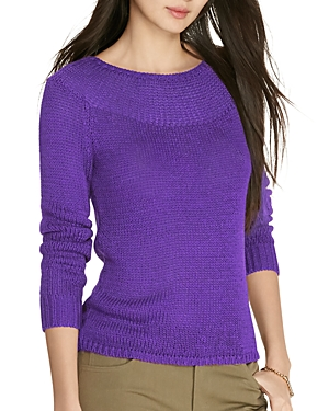 Lauren Ralph Lauren Ribbed Yoke Sweater