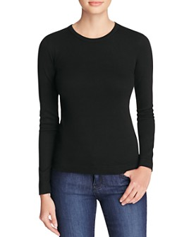 Three Dots - Long Sleeve Crewneck Tee
