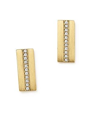 Diamond Bar Stud Earrings in 14K Yellow Gold, .08 ct. t.w. - 100% Exclusive