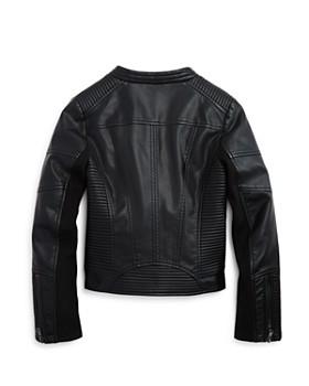 AQUA - Girls' Faux Leather Jacket, Big Kid - 100% Exclusive