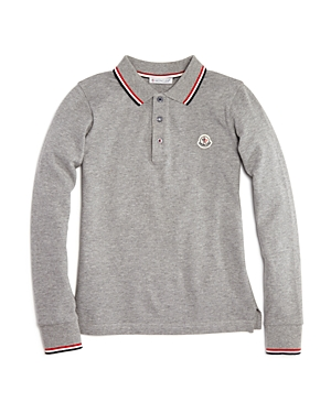 Moncler Boys' Color-Tipped Polo Shirt - Little Kid