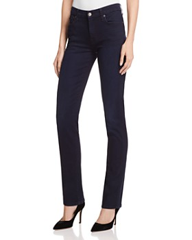 7 For All Mankind - b(air) Kimmie Straight Jeans in Blue Black River Thames