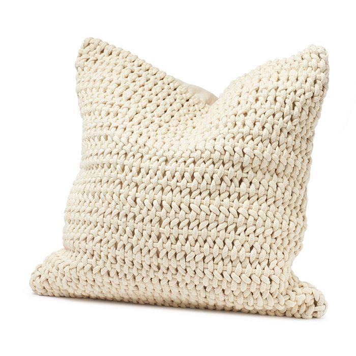 "Coyuchi - Organic Cotton Woven Rope Decorative Pillow, 22"" x 22"""