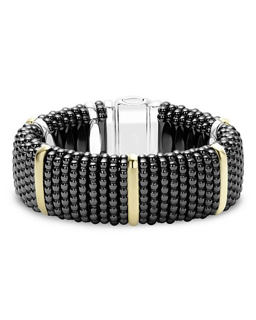 LAGOS - Black Caviar Ceramic Bracelets with 18K Gold and Sterling Silver