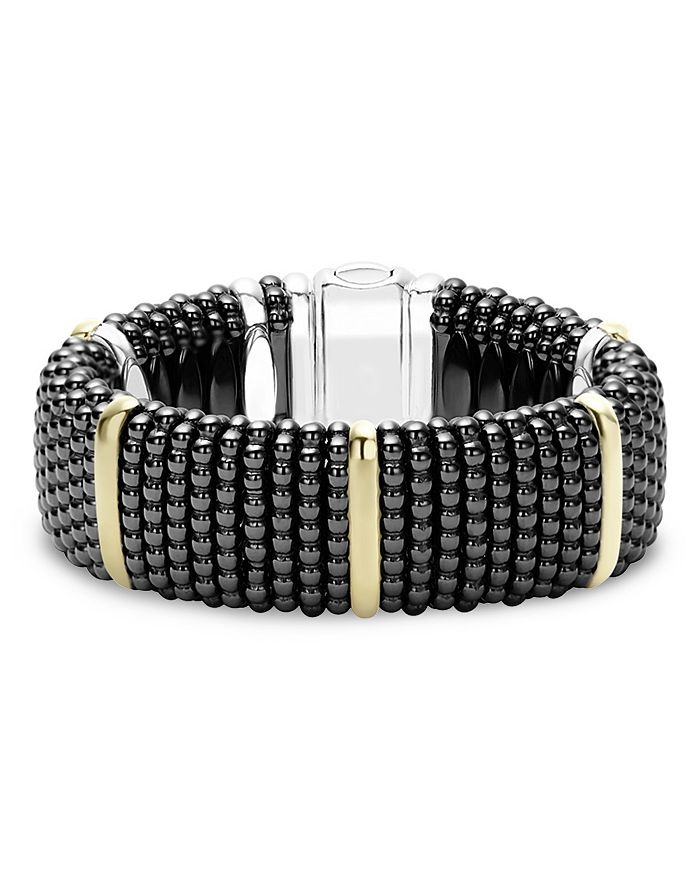 LAGOS - Black Caviar Ceramic Bracelet with 18K Gold and Sterling Silver