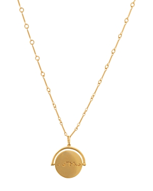 Lulu Dk Sisters Charm Spinner Pendant Necklace, 18