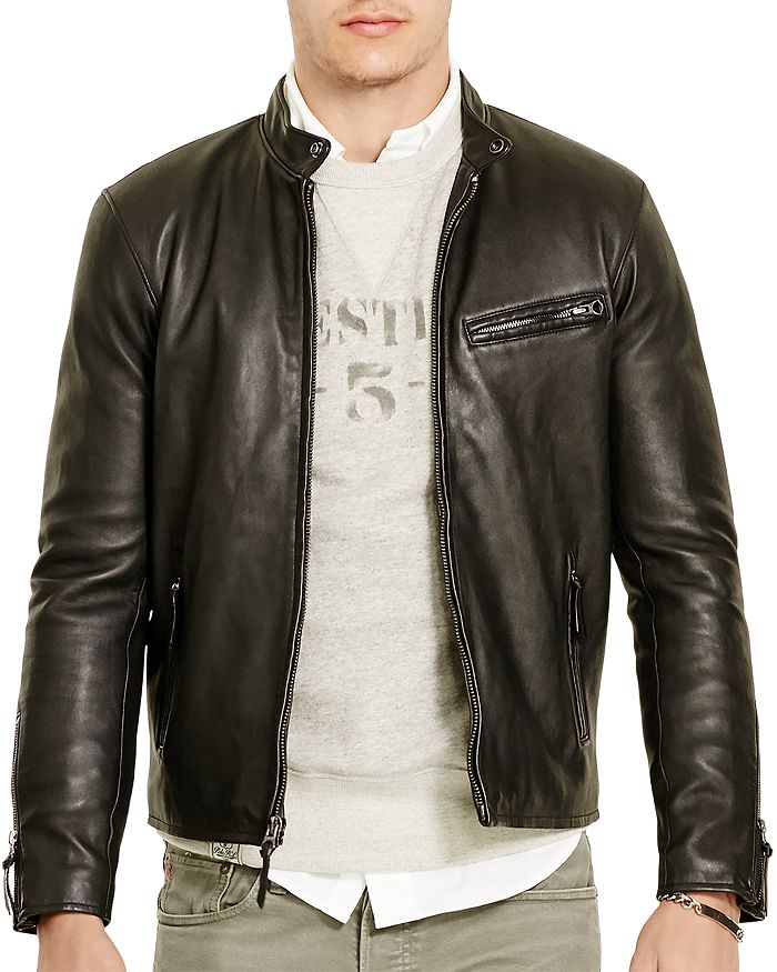 Polo Ralph Lauren - Lambskin Leather Café Racer Jacket