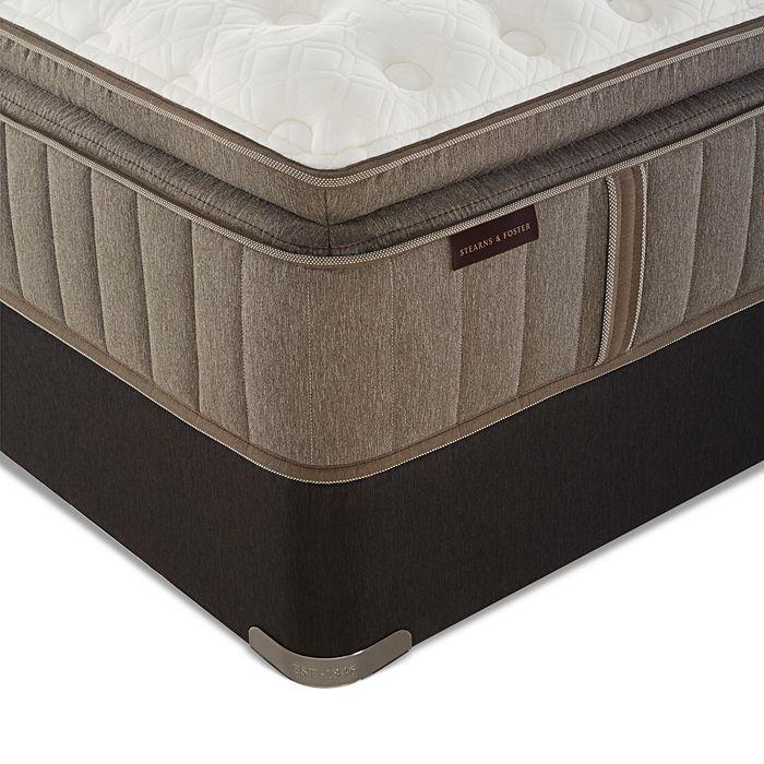 Stearns & Foster - Bridlegate Luxury Firm Euro Pillow Top Full Mattress & Box Spring Set - 100% Exclusive