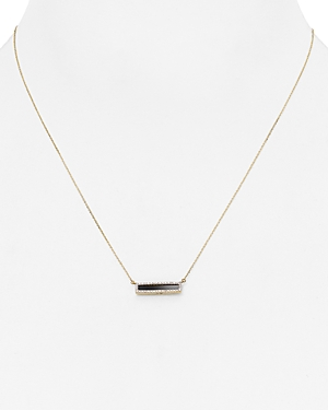 Adina Reyter Onyx & Diamond Bar Pendant Necklace, 17
