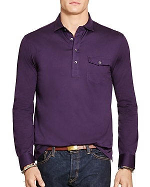 Polo Ralph Lauren Cotton Jersey Regular Fit Popover Shirt